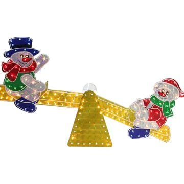 Northlight Snowmen See Saw Lighted Christmas Decoration