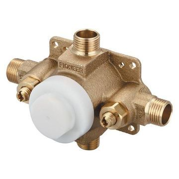 Pioneer Valve - Single Handle Pressure Balance Tub and Shower Valve Set