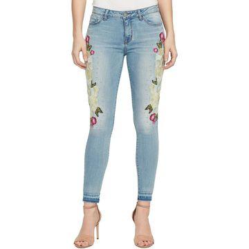 William Rast Womens Ankle Studded Skinny Jeans