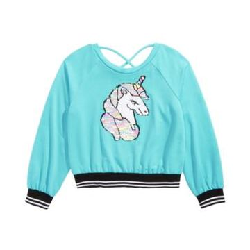 Beautees Big Girls Flip Sequins Unicorn Top