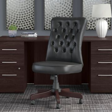 Key West High Back Tufted Office Chair by Bush Furniture