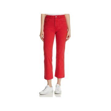 DL1961 Womens Jerry Straight Leg Jeans High-Waist Denim