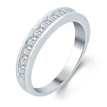 Divina 10KT Gold 1ct TDW Princess-Cut Diamond Wedding Band