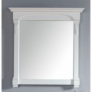 James Martin 147-114-5345 39.5 in. Brookfield Mirror, Cottage White