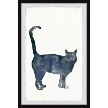 Parvez Taj Shy Cat Framed Wall Art
