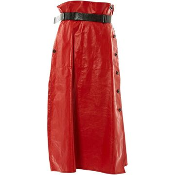 Bottega Veneta Red Leather Skirts