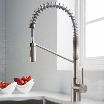 Kraus Kpf-2631 Oletto Deck Mounted Kitchen Faucet, Includes Escutcheon