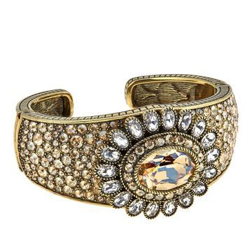 Heidi Daus Dazzling Delight Crystal Cuff Bracelet
