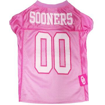 Pets First Oklahoma Sooners Pink Jersey, Small