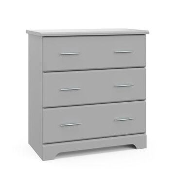Storkcraft Brookside 3-Drawer Chest In Pebble Grey