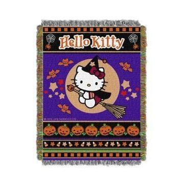 Hello Kitty Halloween Tapestry Throw