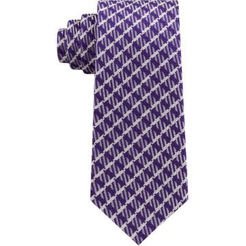 Men's Textured Gingham Grid Silk Tie