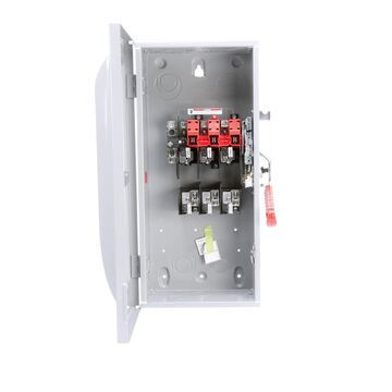 Siemens 100-Amp 3-Pole Fusible Heavy Safety Switch Disconnect in Gray   HF323N