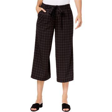 maison Jules Womens Wide Leg Cropped Culotte Pants