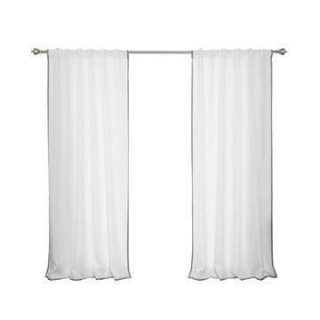 Aurora Home Outdoor Border Curtain Panel Pair