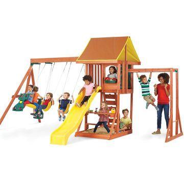 KidKraft Cedarbrook Wooden Playset - Brown