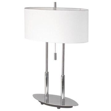 Dainolite Table Lamp, Oval Shade - Polished Chrome