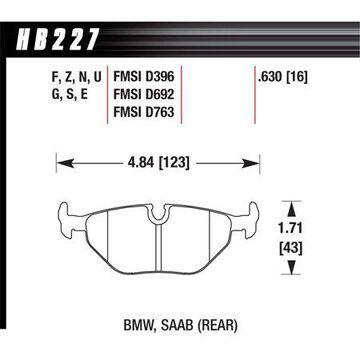 Hawk 95-99 BMW M3 E36 HPS Street Rear Brake Pads
