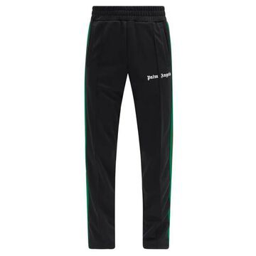 Palm Angels - College Side-stripe Jersey Track Pants - Mens - Black