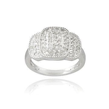 DB Designs Rhodium Plated 1/2ct TDW Diamond Ring