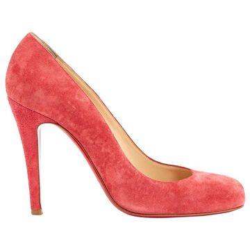 Christian Louboutin Pink Suede Heels