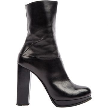 Costume National Black Leather Ankle boots