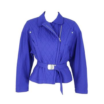 Thierry Mugler \N Blue Wool Leather jackets