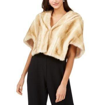 Eliza J Taupe Faux-Fur Jacket