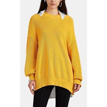 Undercover Poplin-Panel-Detailed Cotton Oversized Sweater