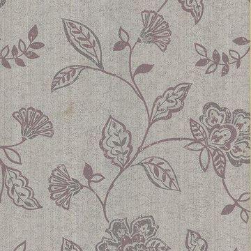 Brewster Jacobean Champagne Lilyanne Wallpaper