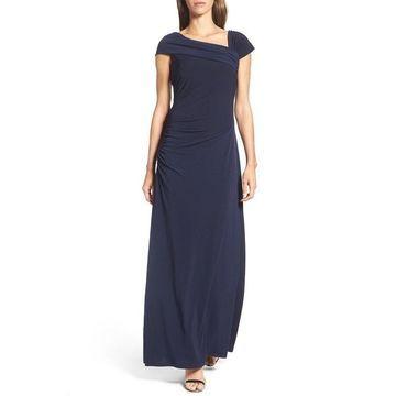 Ellen Tracy Women's Ruched Asymmetric Sheath Dress