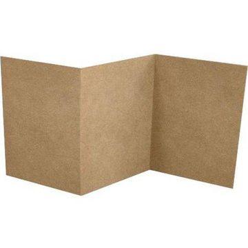 6 1/4 x 6 1/4 Z-Fold Invitation - 18pt. Grocery Bag (100 Qty.)