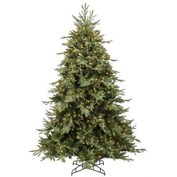 National Tree Company 7.5-ft. Feel Real Casselton Fir Pre-Lit Artificial Christmas Tree, Green
