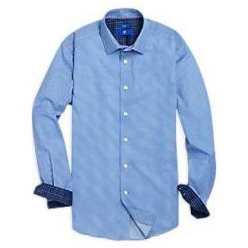 Egara Blue Geometric Sport Shirt