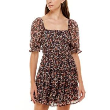Trixxi Tiered Printed Dress