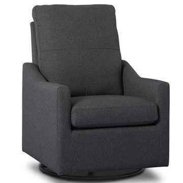 Delta Children Kenwood Nursery Glider Swivel Rocker Chair, Charcoal