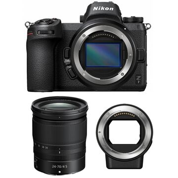 Nikon Z7 Mirrorless Digital Camera with 24-70mm Lens and Nikon FTZ Mount Adapter
