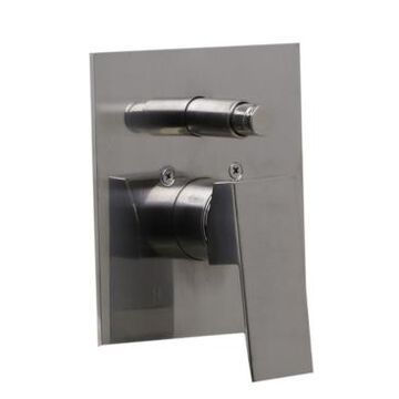 Alfi brand Brushed Nickel Shower Valve Mixer with Square Lever Handle and Diverter Bedding