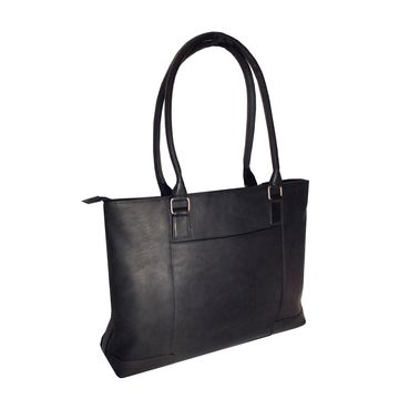Royce Leather Columbian Leather 15-inch Laptop Tote Bag