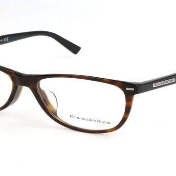 Ermenegildo Zegna EZ5055F Asian Fit 056 Men's Glasses Tortoiseshell Size 54 - Free Lenses - HSA/FSA Insurance - Blue Light Block Available