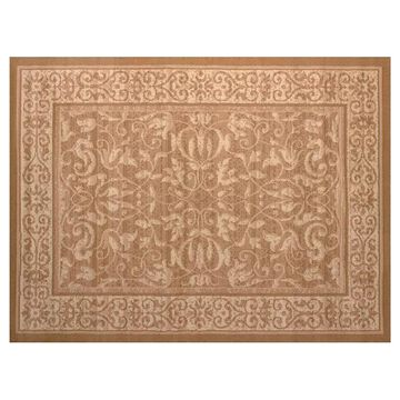 United Weavers Dallas Baroness Framed Floral Rug, Beig/Green, 5X7 Ft