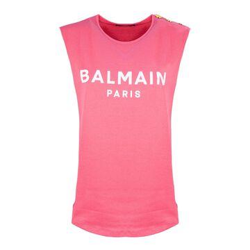 Balmain Pink Cotton T-shirt