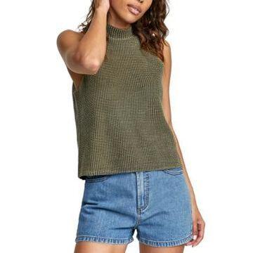 Rvca Sara Sleeveless Mock-Neck Sweater
