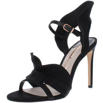 Sophia Webster Womens Lucia Satin Ruffled Dress Heels