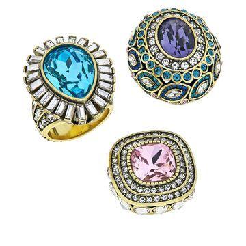 Heidi Daus Enchante Interchangeable 3-piece Ring Set