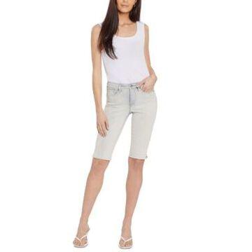 Nydj Denim Tummy-Control Bermuda Shorts