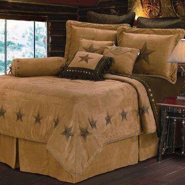 HiEnd Accents Luxury Star Comforter Set, 6-Piece