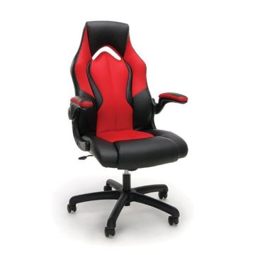 OFM Essentials by OFM Racing Style Leather Gaming Chair