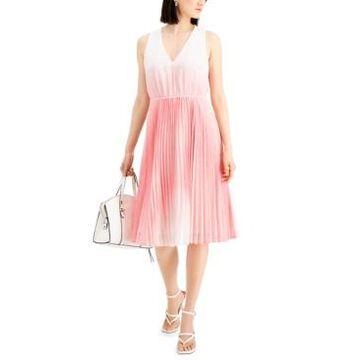 Taylor Petite Ombre-Dot Dress