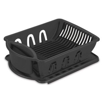 Sterilite 2-Piece Black Sink Set